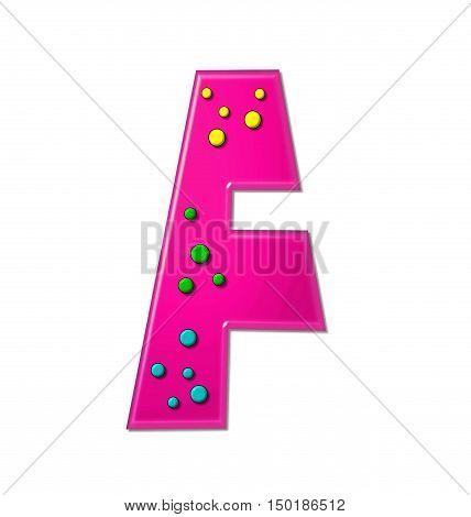Alphabet Polka Dot Party F