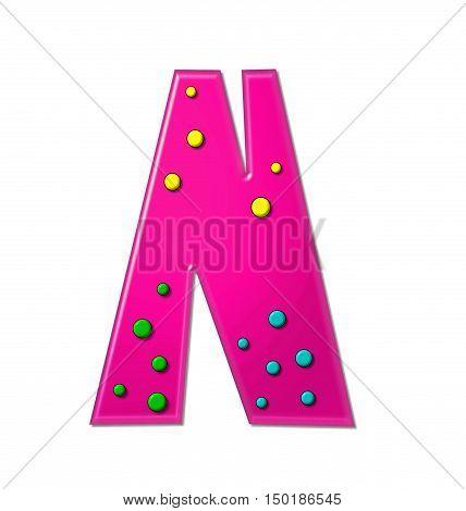 Alphabet Polka Dot Party N