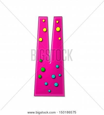 Alphabet Polka Dot Party V