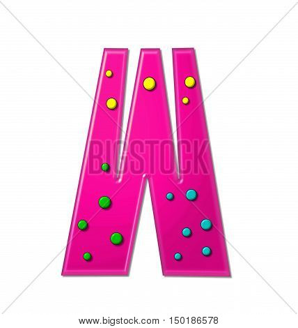 Alphabet Polka Dot Party W