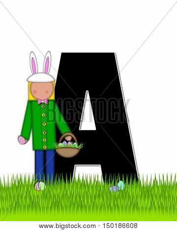 Alphabet Children Easter Eggs A