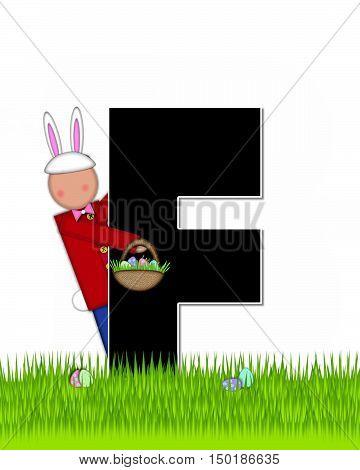 Alphabet Children Easter Eggs F