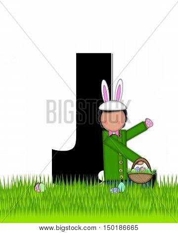 Alphabet Children Easter Eggs J