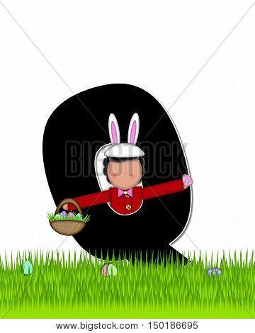 Alphabet Children Easter Eggs Q