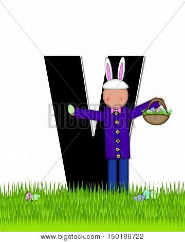 Alphabet Children Easter Eggs V