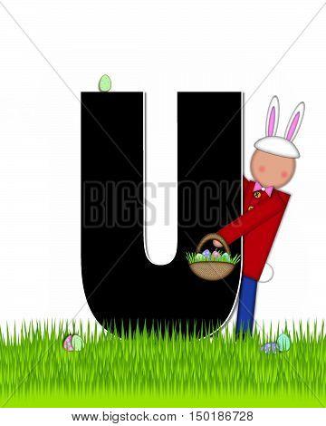 Alphabet Children Easter Eggs U