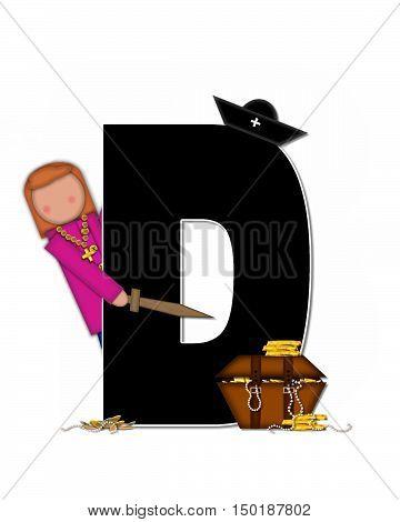 Alphabet Children Pirates D