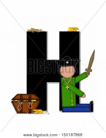 Alphabet Children Pirates H
