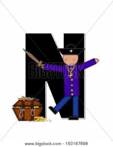 Alphabet Children Pirates N
