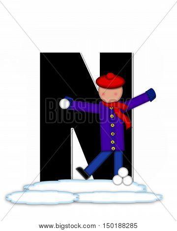 Alphabet Children Snow Fight N