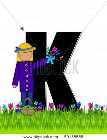 Alphabet Children Tulip Patch K