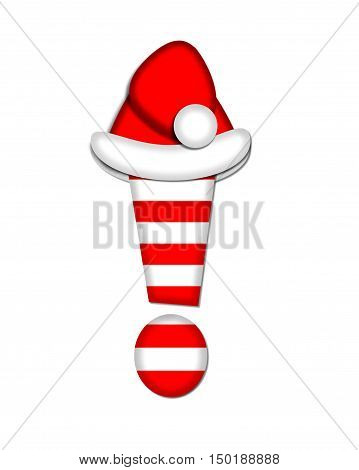 Alphabet Christmas Candy Cane Exclamation