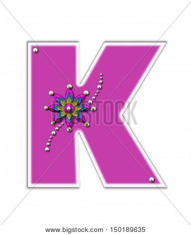 Alphabet Metallica Pink K