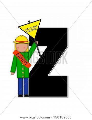 Alphabet Children School Patrol Z