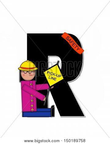 Alphabet Children School Patrol R