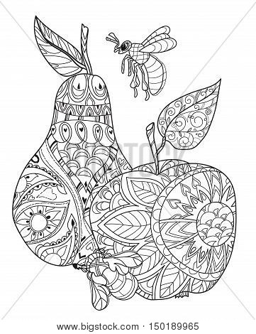 Honey Apple, Pear Doodle And Bees