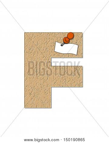 Alphabet Cork Board F