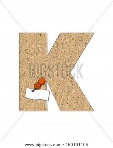 Alphabet Cork Board K