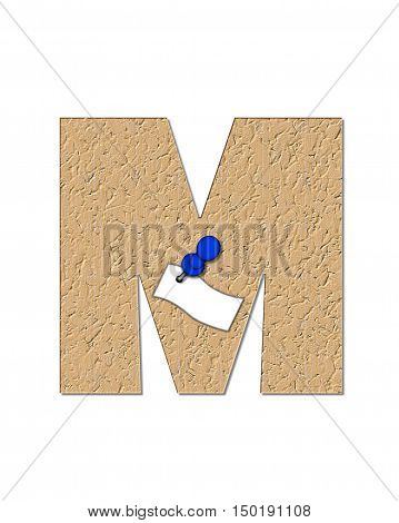 Alphabet Cork Board M