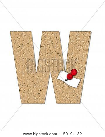 Alphabet Cork Board W