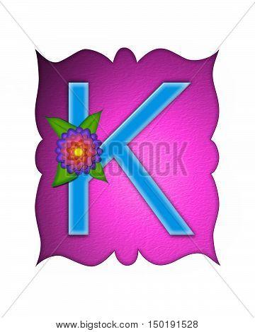 Alphabet Flower Fringe K