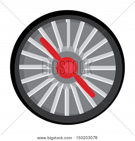 Vector illustration jet engine turbine. Technology aircraft engine power blade and fan.