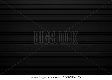 abstract black spike rhythm wave siding board background 3d rendering