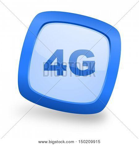 4g blue glossy web design icon