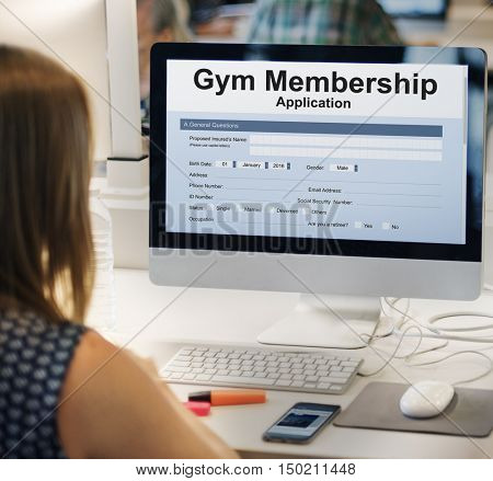 Gym Membeship Application Form Concept
