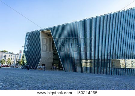 WARSAW POLAND - SEPTEMBER 27: Museum of the History of Polish Jews in Warsaw Poland on September 27 2016