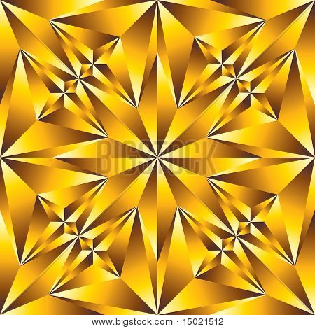 Gold convex surface seamless pattern.