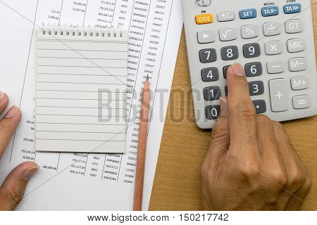 Planning monthly budget or account expenses, finance