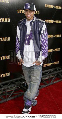 Chris Brown at the World premiere of 'Stomp The Yard' held at the Cinerama Dome in Hollywood, USA on January 8, 2007.