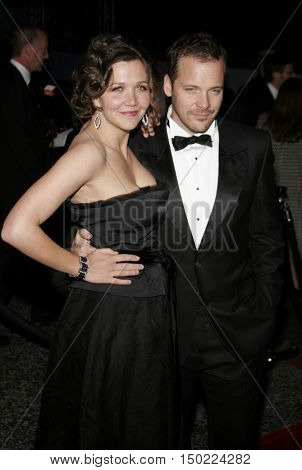 Maggie Gyllenhaal and Peter Sarsgaard at the Paramount Pictures 2007 Golden Globe Award After-Party held at the Beverly Hilton Hotel in Beverly Hills, USA on January 15, 2007.