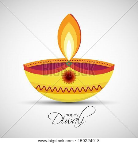 Happy Diwali Diya Oil Lamp