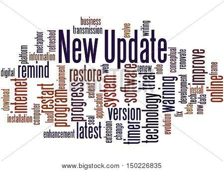 New Update, Word Cloud Concept
