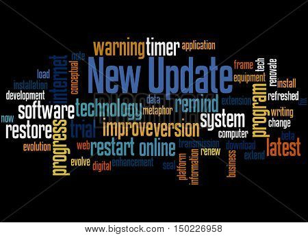 New Update, Word Cloud Concept 3