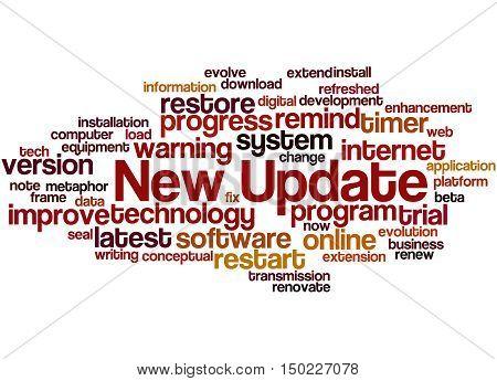 New Update, Word Cloud Concept 7