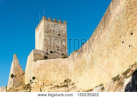 Tower of the Castello di Lombardia in Enna, Sicily