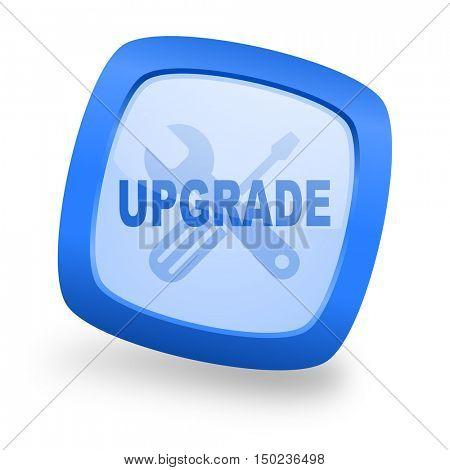 upgrade blue glossy web design icon