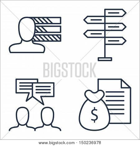 Set Of Project Management Icons On Team Meeting, Personality, Money Revenue And More. Premium Qualit