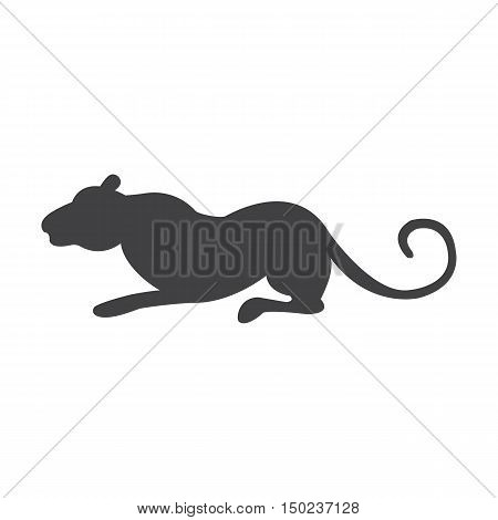 panther black simple icon on white background for web design