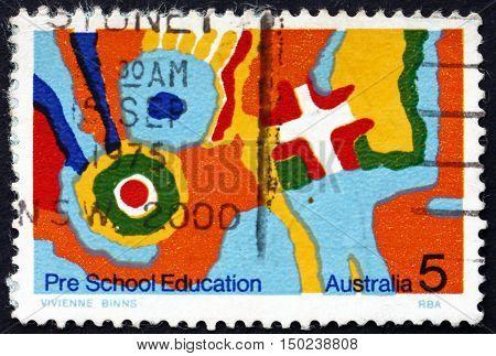 AUSTRALIA - CIRCA 1974: a stamp printed in Australia dedicated to Pre-school Education circa 1974