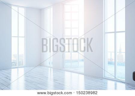 White Interior With Balcony