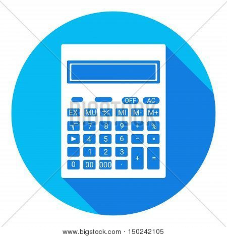 Calculator Mathematic Accountant Web Icon Vector Illustration