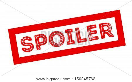 Spoiler Rubber Stamp