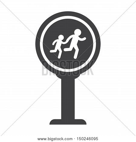 Crosswalk black simple icon on white background for web design