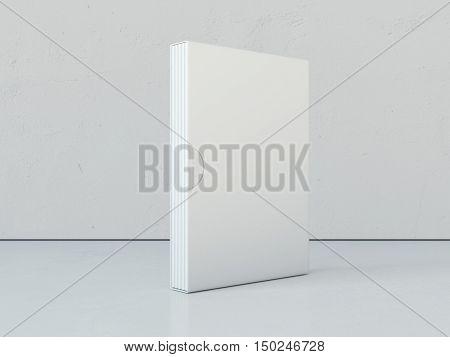 White Books In Blank Package. 3D Rendering
