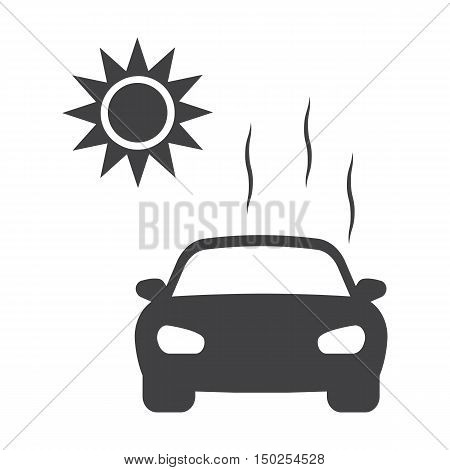 hot weather black simple icons set for web design
