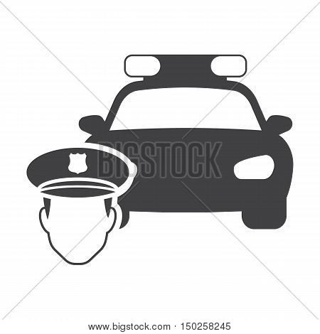 police car black simple icon on white background for web design black simple icons set for web design